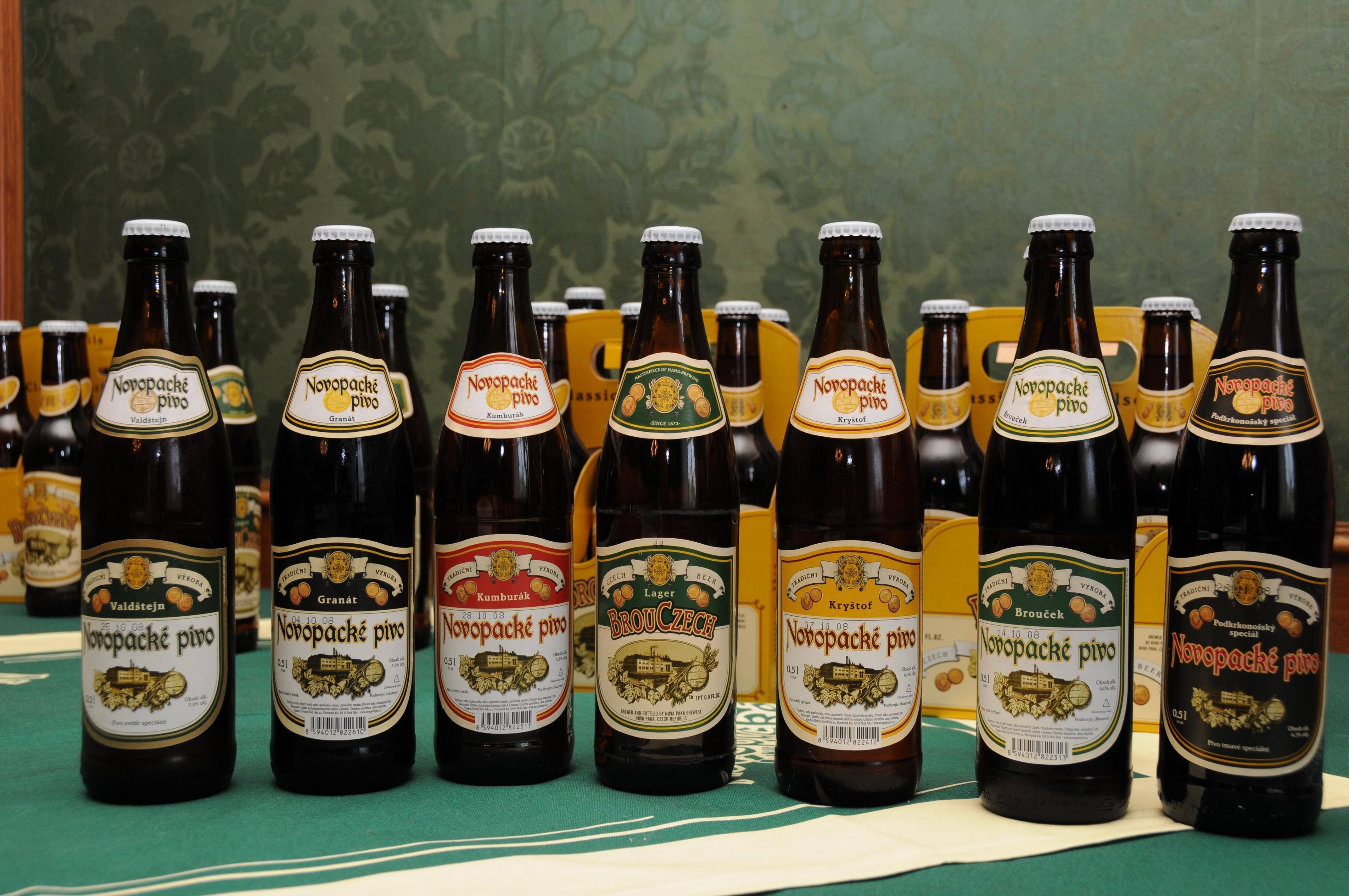 Pivo z pivovaru v Nové Pace, obrázek se otevře v novém okně
